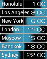 Image of PolyClock on Android phone